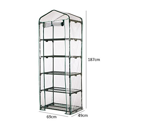 AdvancedShop-69-x-49-x-187cm-Apex-Roof-5-Tiers-Garden-Greenhouse-Hot-Plant-House-Shelf-Shed-Clear-PVC-Cover-by-0-2
