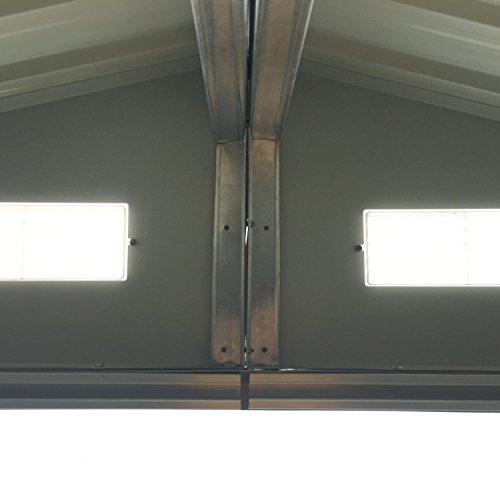 Ainfox-Steel-Toolsheds-Storage-Window-Utility-for-Outdoor-Garden-Backyard-Lawn-Warm-Grey-0-2