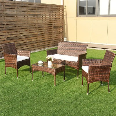 Allblessings-4PCS-Patio-PE-Rattan-Wicker-Table-Shelf-Sofa-Outdoor-Furniture-Set-with-Cushion-for-Leisure-0-1