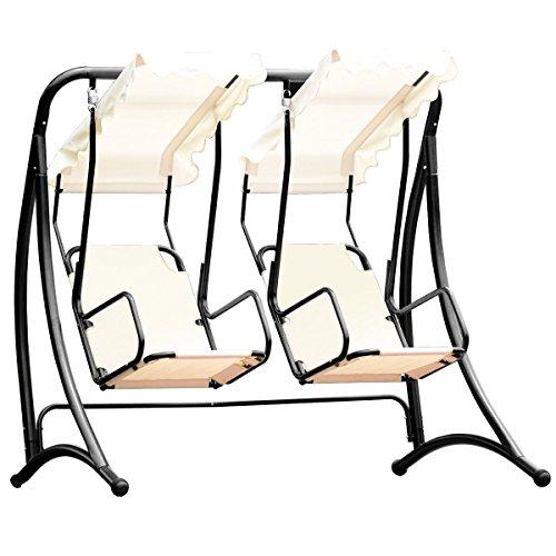 Almacn-2-Persons-Outdoor-Canopy-Loveseat-Patio-Swing-Chair-Glider-Hammock-Patio-Yard-Backyard-Lawn-Deck-Garden-Porch-Pool-Side-Furniture-Heavy-Duty-Steel-Frame-300LBS-Weight-Capacity-Per-Chair-0