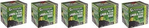 Aluf-Plastics-769646-Ultrasac-Heavy-Duty-Professional-Quality-Lawn-and-Leaf-Trash-Bag-39-Gallon-Capacity-43-Length-x-33-Width-Black-Case-of-100-5-Case-of-100-0
