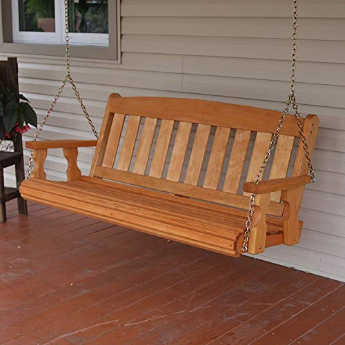 Amish-Heavy-Duty-800-Lb-Mission-5ft-Treated-Porch-Swing-Cedar-Stain-0-0