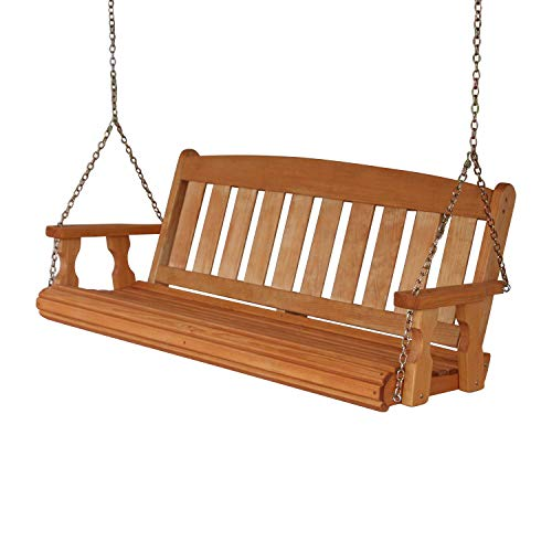 Amish-Heavy-Duty-800-Lb-Mission-5ft-Treated-Porch-Swing-Cedar-Stain-0