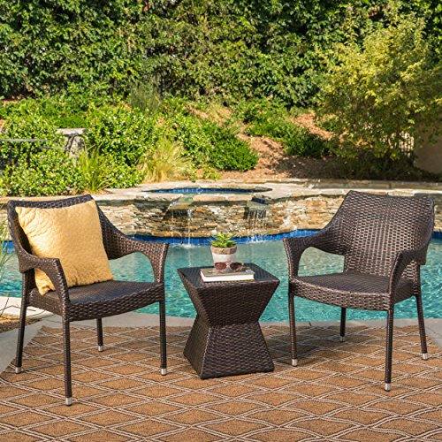 Arlost-Outdoor-3-Piece-Muttibrown-Wicker-Chat-Set-with-Stacking-Chairs-and-Square-Side-Table-0