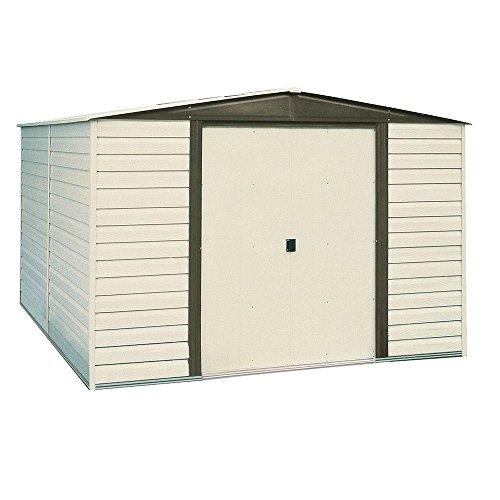 Arrow-Dallas-8-ft-x-6-ft-Vinyl-Coated-Steel-Storage-Shed-with-Floor-Kit-0