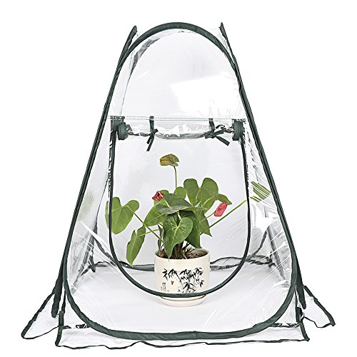 Asdomo-Plant-House-Greenhouse-Mini-Pop-up-Greenhouse-Small-Indoor-Outdoor-Gardening-Flowerpot-Cover-Backyard-Flower-Shelter-70x70x80CM-0-2