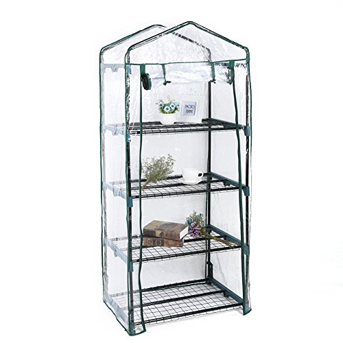Asher-Amada-4Tier-Mini-Greenhouse-Steel-Frame-Outdoor-Garden-Plant-Grow-PVC-Plastic-House-US-0-0