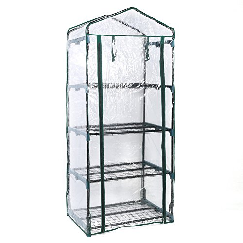 Asher-Amada-4Tier-Mini-Greenhouse-Steel-Frame-Outdoor-Garden-Plant-Grow-PVC-Plastic-House-US-0