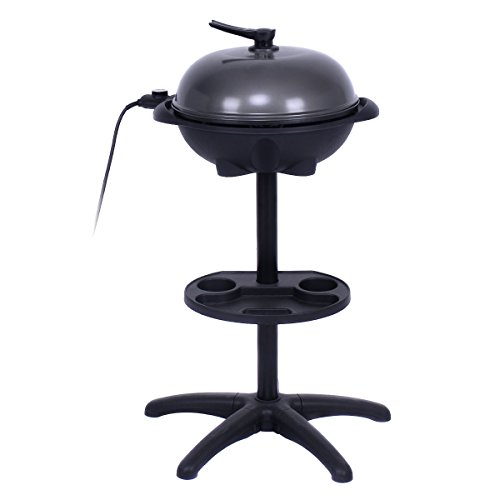 AyaMastro-Non-Stick-Outdoor-Electric-BBQ-Grill-1350W-w360-Rotatable-Condiment-Tray-0