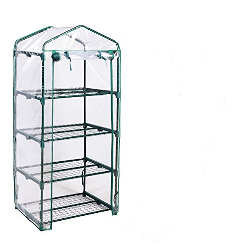 AyaMastro-Portable-Green-House-Mini-Greenhouse-Outdoor-Transparent-Plastic-Covering-w4-Shelves-0-0