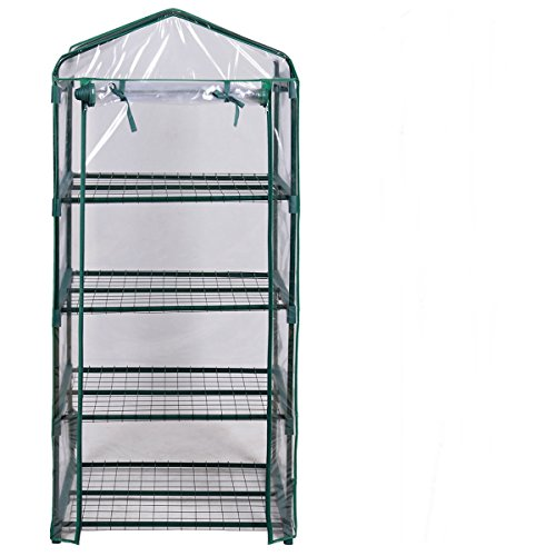 AyaMastro-Portable-Green-House-Mini-Greenhouse-Outdoor-Transparent-Plastic-Covering-w4-Shelves-0