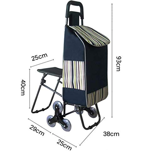 BHXUD-Shopping-Cart-Seat-Trolley-Supermarket-Funny-Grocery-Foldable-Cart-6-Wheels-The-Trolley-0-1