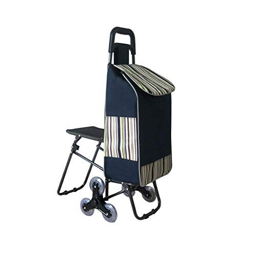 BHXUD-Shopping-Cart-Seat-Trolley-Supermarket-Funny-Grocery-Foldable-Cart-6-Wheels-The-Trolley-0