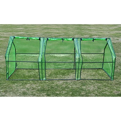 BLXCOMUS-Garden-3-Door-Walk-In-Tunnel-Green-House-Powder-Coated-Tubular-Steel-Outdoor-Greenhouse-Shade-With-Size8-x-3-x-3-L-x-W-x-H-0-1