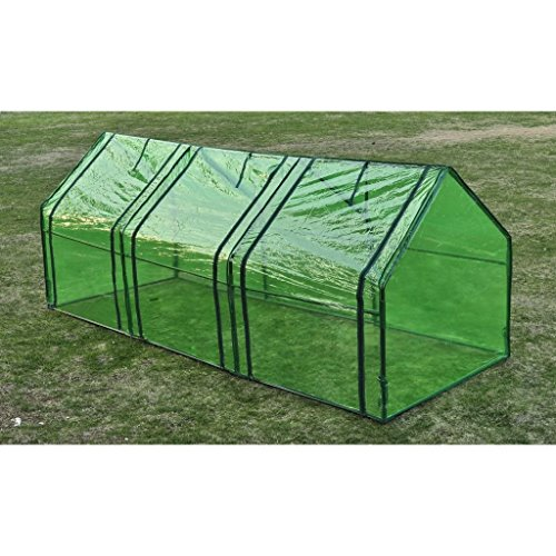 BLXCOMUS-Garden-3-Door-Walk-In-Tunnel-Green-House-Powder-Coated-Tubular-Steel-Outdoor-Greenhouse-Shade-With-Size8-x-3-x-3-L-x-W-x-H-0
