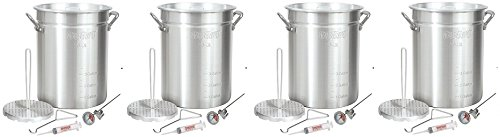 Bayou-Classic-3025-30-Quart-Aluminum-Turkey-Fryer-Pot-with-Accessories-4-Pack-0-0