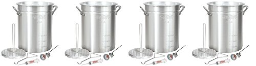Bayou-Classic-3025-30-Quart-Aluminum-Turkey-Fryer-Pot-with-Accessories-4-Pack-0