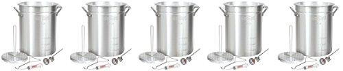 Bayou-Classic-3025-30-Quart-Aluminum-Turkey-Fryer-Pot-with-Accessories-5-Pack-0-0