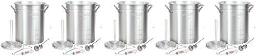 Bayou-Classic-3025-30-Quart-Aluminum-Turkey-Fryer-Pot-with-Accessories-5-Pack-0