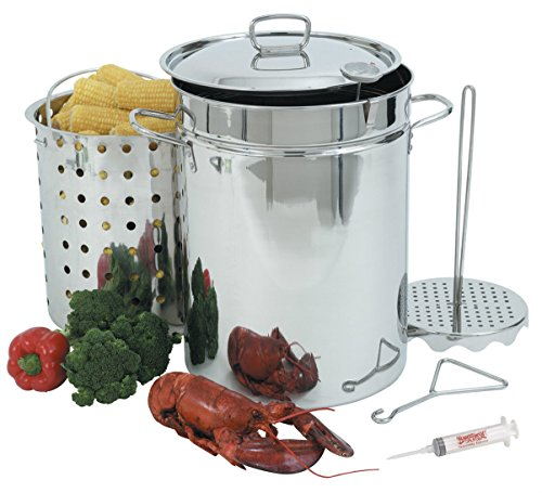 Bayou-Classic-32-Quart-Stainless-Steel-Outdoor-Turkey-Fish-Deep-Fryer-Kit-Extras-JM54574-4565467341150492-0