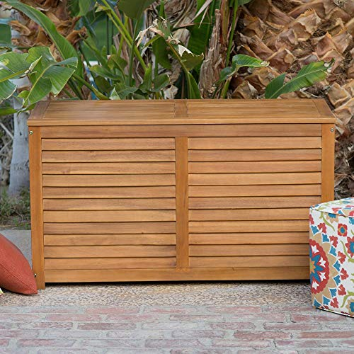 Beautiful-Elegant-Natural-Finish-Coral-Coast-Acacia-Wood-Deck-Patio-Porch-Storage-Box-Deep-90-Gallon-Storage-Area-Lift-Top-Lid-Slatted-Ventilation-Strips-Protects-Your-Items-From-Mildew-Moisture-0-0