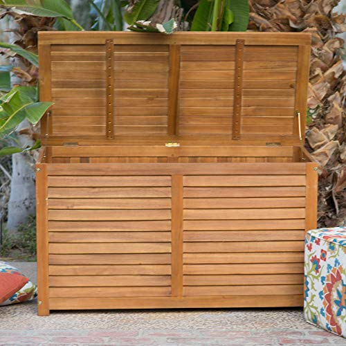Beautiful-Elegant-Natural-Finish-Coral-Coast-Acacia-Wood-Deck-Patio-Porch-Storage-Box-Deep-90-Gallon-Storage-Area-Lift-Top-Lid-Slatted-Ventilation-Strips-Protects-Your-Items-From-Mildew-Moisture-0-1