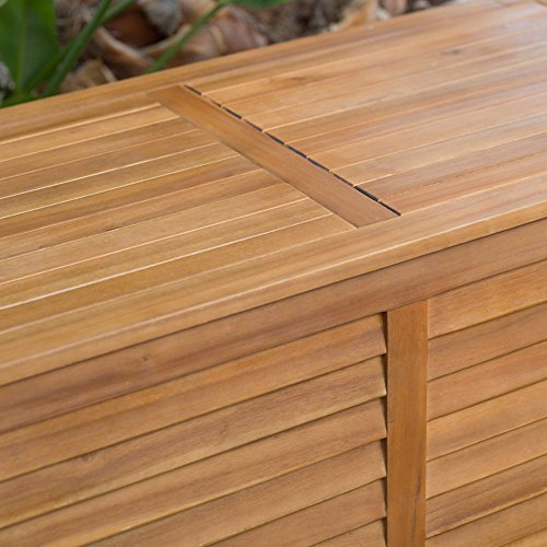 Beautiful-Elegant-Natural-Finish-Coral-Coast-Acacia-Wood-Deck-Patio-Porch-Storage-Box-Deep-90-Gallon-Storage-Area-Lift-Top-Lid-Slatted-Ventilation-Strips-Protects-Your-Items-From-Mildew-Moisture-0-2
