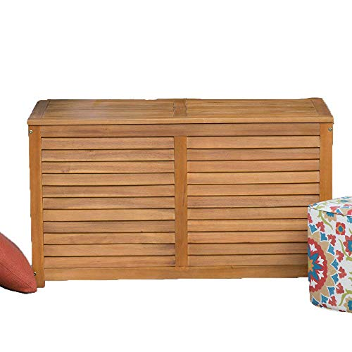 Beautiful-Elegant-Natural-Finish-Coral-Coast-Acacia-Wood-Deck-Patio-Porch-Storage-Box-Deep-90-Gallon-Storage-Area-Lift-Top-Lid-Slatted-Ventilation-Strips-Protects-Your-Items-From-Mildew-Moisture-0