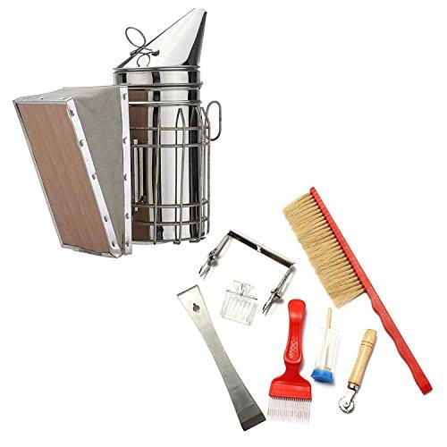 Bee-Keeping-ToolsGosear-8pcs-Beekeeping-Apicultura-Beekeeping-Tools-Equipment-Accessory-Kit-Uncapping-Fork-Hive-Smoker-Brush-0