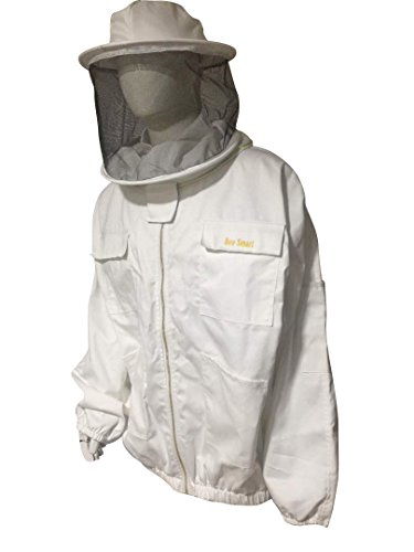 Bee-Smart-900-Heavy-Duty-Bee-Keeping-Jacket-Round-Veil-0-0