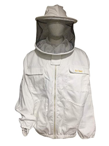 Bee-Smart-900-Heavy-Duty-Bee-Keeping-Jacket-Round-Veil-0-1