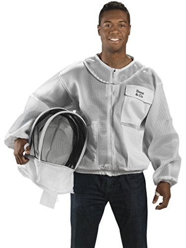Bees-Co-K84-Ultralight-Beekeeper-Jacket-with-Fencing-Veil-0