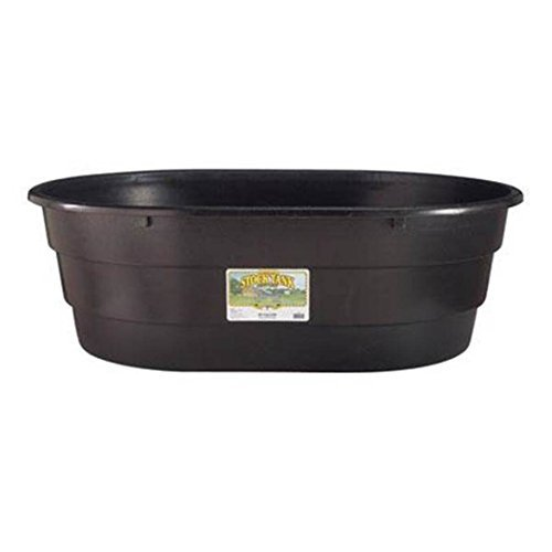 Behlen-Country-Little-Giant-Oval-Poly-Stock-Tank-15-Gal-Black-0