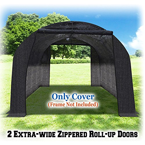 BenefitUSA-Green-House-Replacement-Black-color-Cover-for-Green-house-Frame-NOT-Include-0-2