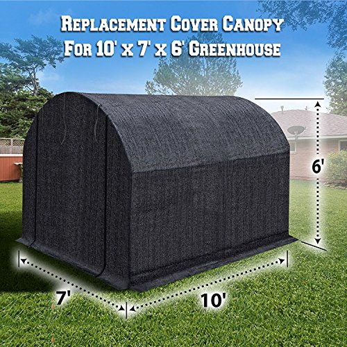 BenefitUSA-Green-House-Replacement-Black-color-Cover-for-Green-house-Frame-NOT-Include-0
