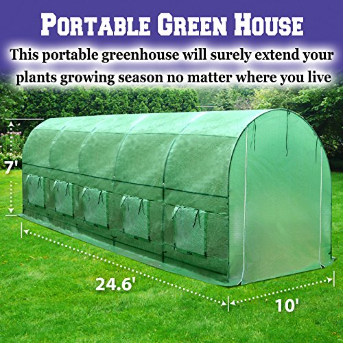 BenefitUSA-Outdoor-Garden-Green-House-Walk-in-Greenhouse-Canopy-Gazebo-246X10X7-Green-0-0