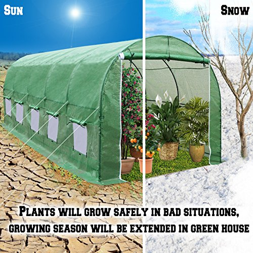 BenefitUSA-Outdoor-Garden-Green-House-Walk-in-Greenhouse-Canopy-Gazebo-246X10X7-Green-0
