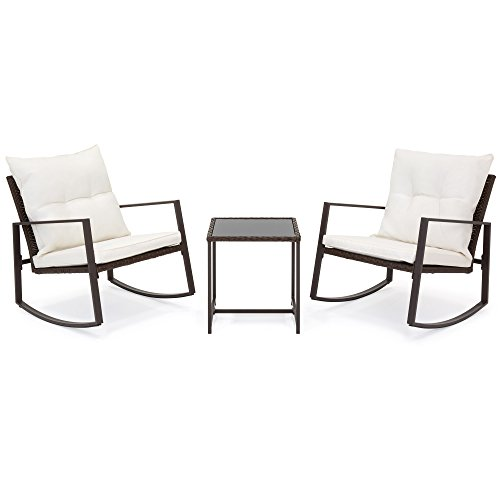 Best-Choice-Products-3-Piece-Patio-Wicker-Bistro-Furniture-Set-w2-Rocking-Chairs-Glass-Side-Table-Cushions-0-0