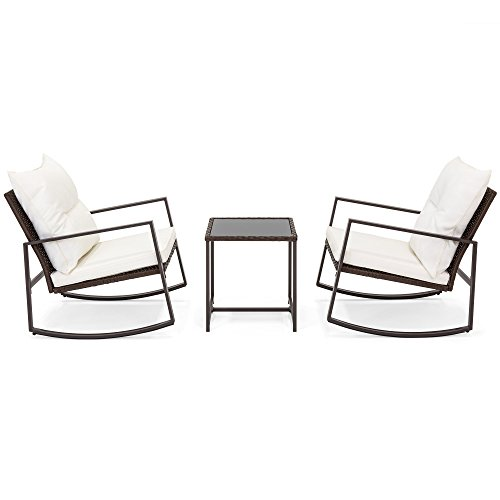 Best-Choice-Products-3-Piece-Patio-Wicker-Bistro-Furniture-Set-w2-Rocking-Chairs-Glass-Side-Table-Cushions-0-1