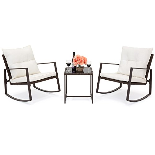 Best-Choice-Products-3-Piece-Patio-Wicker-Bistro-Furniture-Set-w2-Rocking-Chairs-Glass-Side-Table-Cushions-0