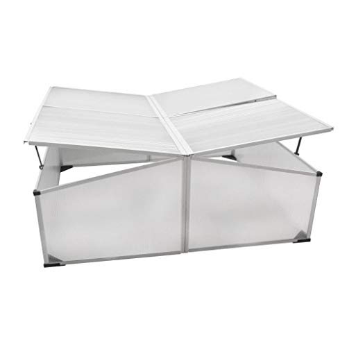 BestHomeFuniture-Patio-Outdoor-4-Lids-Polycarbonate-Aluminum-Cold-Frame-Greenhouse-Garden-Plant-0-1