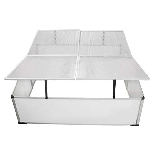BestHomeFuniture-Patio-Outdoor-4-Lids-Polycarbonate-Aluminum-Cold-Frame-Greenhouse-Garden-Plant-0-2