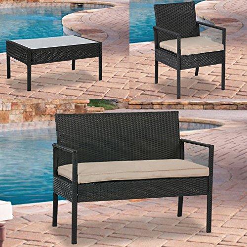 BestMassage-4PC-Rattan-Patio-Furniture-Chair-Set-Outdoor-Garden-Conversation-Sofa-Wicker-Set-with-Cushions-0-0