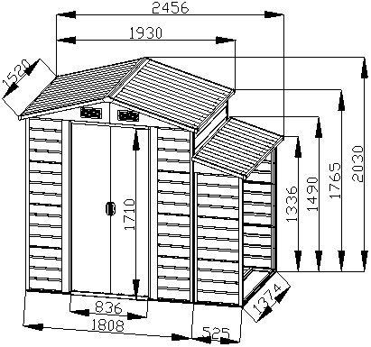 Bestmart-INC-8×5-Storage-Shed-Large-Backyard-Outdoor-Garden-Garage-Tool-Kit-Building-Warm-Gray-0-2