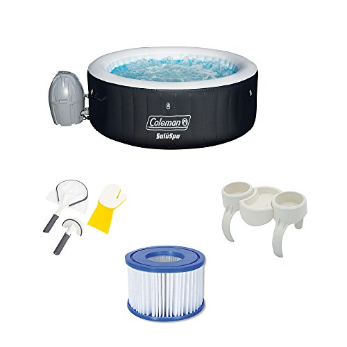 Bestway-SaluSpa-Hot-Tub-wCleaning-Set-Snack-Tray-and-Filter-Pumps-12-Pack-0