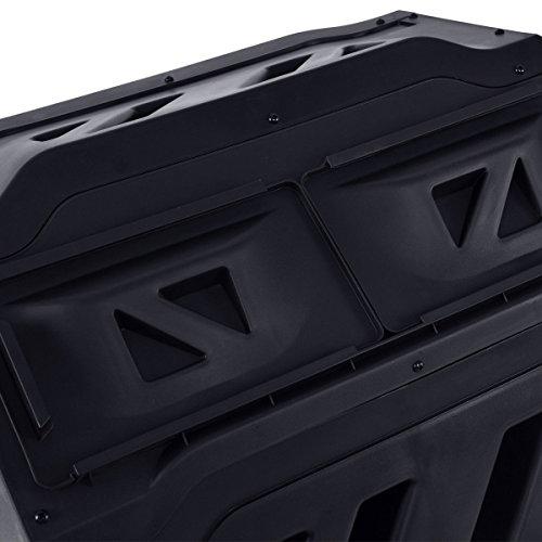 Black-PP-42-Gallon-Compost-Tumbler-Garden-Waste-Bin-w-Adjustable-Air-Vents-0