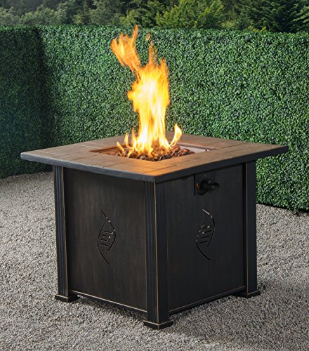 Bond-Manufacturing-68487A-lari-Outdoor-Gas-Fire-Pit-Table-with-Antique-Wooden-Finish-242-Inches-by-30-Inches-by-30-Inches-0-0