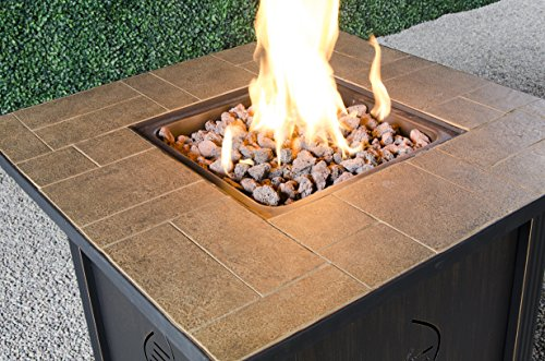 Bond-Manufacturing-68487A-lari-Outdoor-Gas-Fire-Pit-Table-with-Antique-Wooden-Finish-242-Inches-by-30-Inches-by-30-Inches-0-1