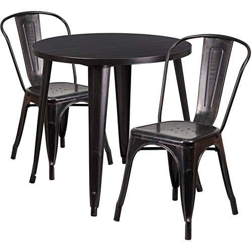 Bowery-Hill-3-Piece-30-Round-Metal-Patio-Dining-Set-in-Black-Gold-0