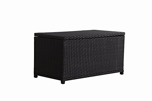 BroyerK-Outdoor-Black-Wicker-Cushion-Storage-Box-0-1